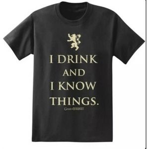 Game Of Thrones Black T Shirt Size Small